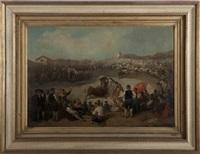 the bull ring (plaza de toros) by victor valdivia