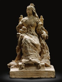model for a monument to queen victoria by ercole rosa