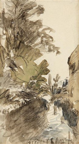 paysage à nevers by johan barthold jongkind