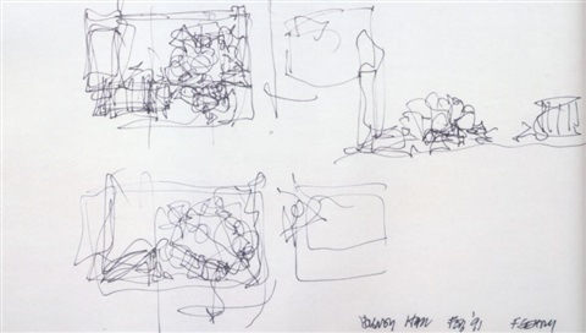 Rendering Of The Walt Disney Concert Hall By Frank Gehry On Artnet