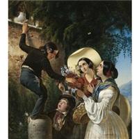 italian scene by mikhail ivanovich scotti