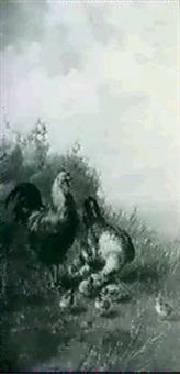 poultry in a landscape by octavia campotosto