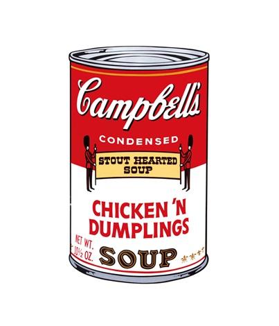 campbell soup ii (chicken'n dumplings) by andy warhol