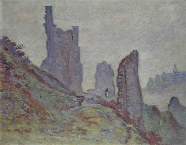les ruines du château de crozant by armand guillaumin