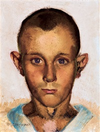 boy with blue eyes by vilmos aba-novák