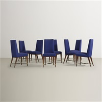 dining chairs (set of 8) by jean royère