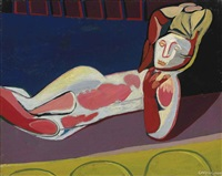 reclining woman by robert colquhoun