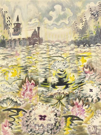 a sea of queen annes lace by charles ephraim burchfield
