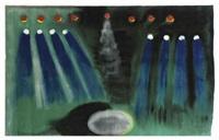 schilderende vulkaan by leon adriaans