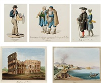 views in italy (album w/40 works & frontispiece) by dorothy davison