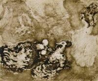 die beiden hähne - les deux coqs, pl.77 by hedwig casprzig
