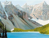 moraine lake, valley of ten peaks by william (h.w.) townsend