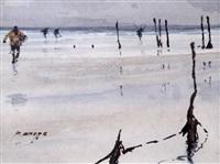 pêcheurs dans la baie by pierre brette