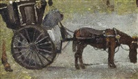 hansom cab, manchester by pierre adolphe valette