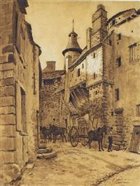 paysage de bourgogne by fernand antonin mercié