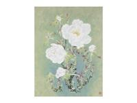 winter-blooming peony by okazaki tadao