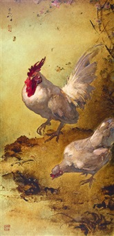 hen and rooster by lee man fong