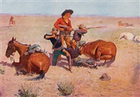 remington's four best paintings by frederic remington