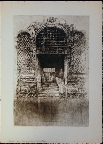 doorway in venice by james abbott mcneill whistler