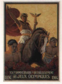 xxème anniversaire des jeux olympiques, 1894-1914 by edouard elzingre