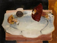 nature morte aux champignons by michel rodde