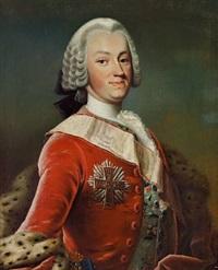 portrait of frederik christian møsting (+ elisabeth cathrine møsting, née schack; pair) by peder als