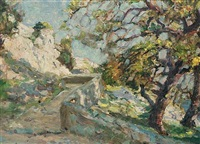 camp bay, gibraltar (+ 4 others; 5 works) by paul montague smyth