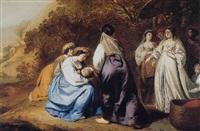 the finding of moses by abraham lambertsz jacobsz van den tempel
