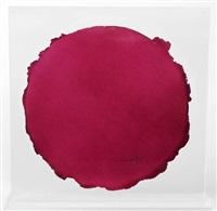 guggenheim tondo (pink/blau) by dan flavin