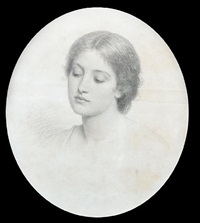 portrait of a young woman, possibly kate perugini by charles edward perugini