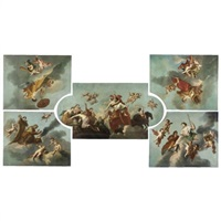 the rape of proserpine and the four seasons (set of 5) by augustus (snip) terwesten