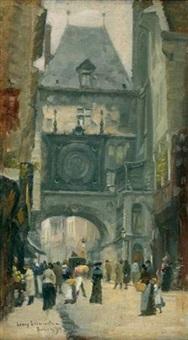 rouen, le gros horloge by léon jules lemaitre