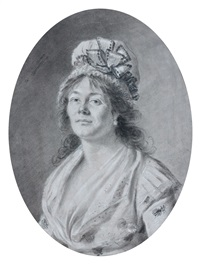 portrait de femme by henri-pierre danloux