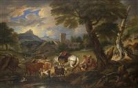 paesaggio con figure e armenti by pieter mulier the elder