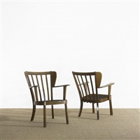 chairs (pair) (model 2252) by soren hansen
