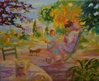 le jardin en juillet by elyane addari
