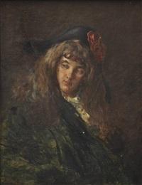 jeune fille au chapeau by louis edouard garrido