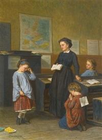 la leçon & le chat: a pair by théophile emmanuel duverger