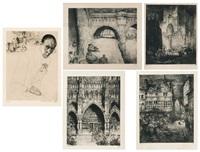 cathédrale d'amiens (5 works) by jules de bruycker