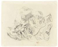 a lion hunt by eugène delacroix