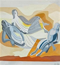 figurative composition by alexandra exter