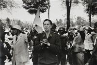 france. paris, 25 août - soldats allemands se rendant aux combattants français de la résistance lors de la libération de la ville by robert capa