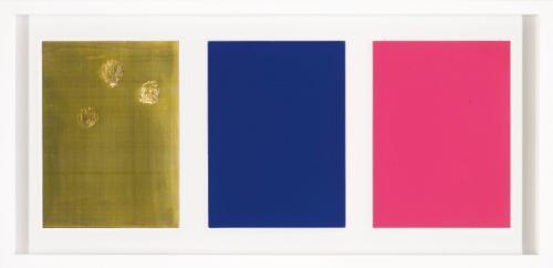 monochrome und feuer triptych by yves klein