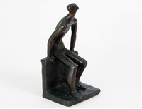 seated male nude by sybil kennedy