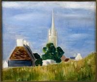 le clocher du village by moïse kisling