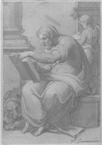 saint marc écrivant l'évangile by vincenzo camuccini
