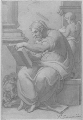 saint marc écrivant lévangile by vincenzo camuccini