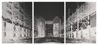 battersea power station, ii, july 3 (triptych) by vera lutter