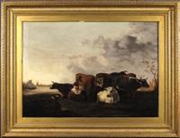 traite des vaches au champ by jacob johann verreyt