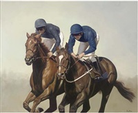 cantering down to the start by peter j. bailey